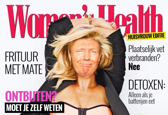 Donald Trump op de cover van Women's Health