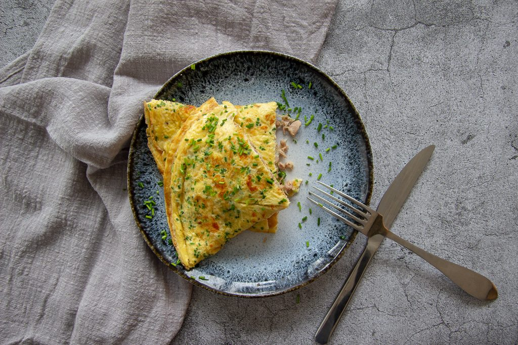 Omelet tonijn smelt