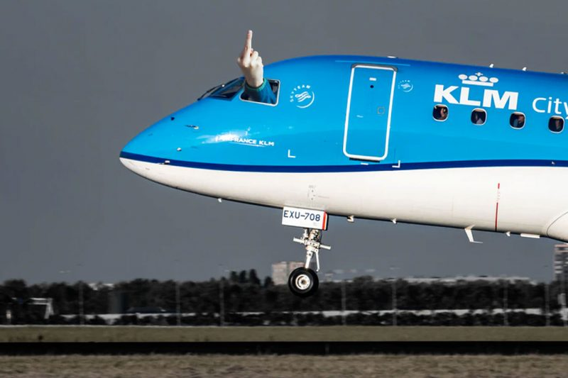 De KLM-voucher is een middelvinger